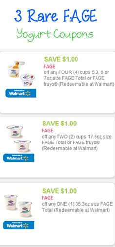 Central Coast Couponista: 3 Super Rare FAGE Yogurt Coupons
