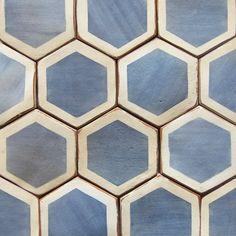 "Hexagonal tile ""Palio by Tabarka Studio Hexagon Tile Backsplash, Hex Tile, Hexagon Tiles, Stone Tiles, Mosaic Tiles, Tabarka Tile, Tiling, Hexagon Shape, Cement Tiles"