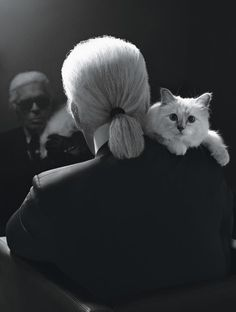 Karl ­Lagerfeld and his kitten  Choupette