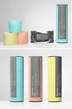 Toilet Paper in pastel colours