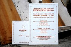 Taylor Wedding Invitation - Designed and Printed by Clove St Press