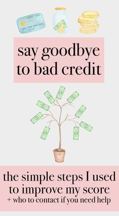 Say Goodbye to Bad Credit | the simple steps I used to improve my score + who to contact if you need help