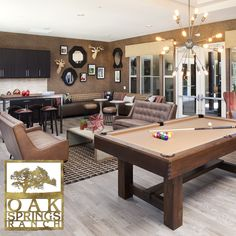 Chill out or shoot some pool in the clubhouse. #OakSpringsRanch