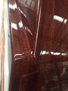 Wood effect #VinylFilm applied, then covered with a clear coat #transformyouryacht