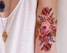 New tattoo cat vintage etsy ideas Feminine Tattoo Sleeves, Feminine Tattoos, Trendy Tattoos, Tattoos For Guys, Feather Tattoos, Rose Tattoos, Flower Tattoos, Mandala Hand Tattoos, Rose Hand Tattoo