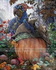 Autumn Decor - Pumpkin Art - Pirate Art - Rustic Fall Decor - Pumpkin Decor - Thanksgiving Decor - Rustic Farmhouse - Farmhouse - Pumpkins