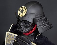 The Dark Side meets the way of the warrior with the Darth Vader Samurai Warrior Doll as Feudal Japan enters the Star Wars universe. Vader Tattoo, Darth Vader Mask, Star Wars Design, Evil Empire, Japanese Warrior, Star Wars Pictures, Samurai Armor, Shadow Warrior, Starwars
