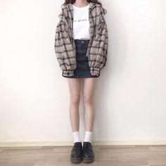 "nami on Instagram: ""* シャツ着回しコーデ🧸 . tops : @apres_jour skirt : @rili.shopping shoes : @grl_official . . #namiy_ootd #aprejour #grl #rili_tokyo"" Korean Street Fashion, Asian Fashion, Retro Fashion, Girl Fashion, Aesthetic Fashion, Aesthetic Clothes, Pretty Outfits, Cute Outfits, Girl Outfits"