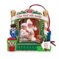 Our Visit With Santa Photo Holder 2012 Hallmark Christmas Ornament ** You can get more details by clicking on the image.