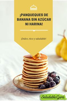 Dulce, rico y saludable ¡Panqueques de banana sin azúcar ni harina! Breakfast Toast, Breakfast For Dinner, Diabetic Recipes, Healthy Recipes, Pan Dulce, Sweet Cakes, Everyday Food, Smoothie Bowl, Sin Gluten
