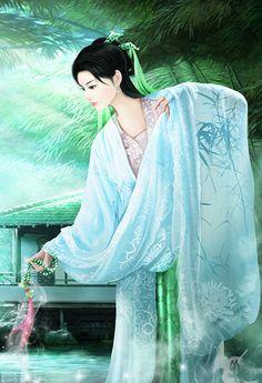 Coloring for adults - Kleuren voor volwassenen Geisha Kunst, Geisha Art, Ancient Beauty, Ancient Art, Chinese Painting, Chinese Art, Diy Art, Asian Artwork, Chinese Drawings