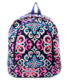 Custom Monogrammed Backpack Multicolor Floral Girls Embroidered Book Bag by DoubleBMonograms on Etsy