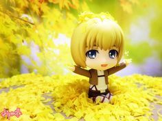 Armin playing in the leaves while waiting for Eren and Mikasa ❤ || armin arlert, good smile company, gsc, nendoroid, ねんどろいど, アルミンアルレルト, 進撃の巨人, aot, snk, shingeki no kyojin, attack on titan, eren, mikasa, armin, nendoroid photography, toy photography, figure photography