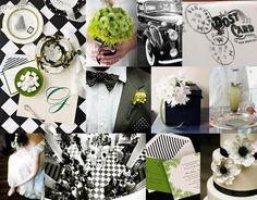 361-kelly-green-lime-black-white-art-deco-wedding-inspiration-board.jpg (400×313)