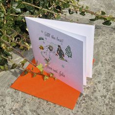 Snowboards in orange with bright goggles! perfect wedding card for weddings, engagements and anniversaries. Fun wedding greeting cards with a personalized touch. Invitations too! Snowboard Wedding, Ski Wedding, Personalised Wedding Invitations, Personalized Wedding, Wedding Stationery, Snowboards, Engagements, Wedding Designs, Perfect Wedding
