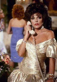 Alexis Carrington (Joan Collins) in #Dynasty - pinned from @TV Guide