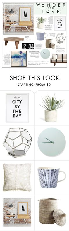 """Wander And Love"" by honey-beans-xo ❤ liked on Polyvore featuring interior, interiors, interior design, home, home decor, interior decorating, Allstate Floral, Pier 1 Imports, Menu and H&M"