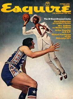 A cover gallery for Esquire Walt Frazier, Popular Magazine, Newspaper Headlines, Vogue Covers, Vintage Magazines, Esquire, Pulp Fiction, Rage, Black Men