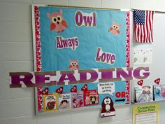Valentine's reading bulletin board