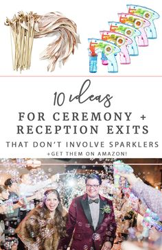 10 Ceremony + Reception Grand Exit Ideas (That Don't Involve Sparklers) - Allison Jeffers Wedding Photography Wedding Send Off, Wedding Exits, Trendy Wedding, Wedding Ceremony, Daytime Wedding, Wedding Venues, Wedding Reception Alternatives, Wedding Ideas, Event Planning Tips