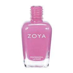"Zoya Nail Polish in Shelby (#ZP616) (Zoya.com) (family: pink; tone: cool: finish: cream; intensity: 5 [1 = sheer — 5 = opaque]) (""can be best described as: Soft but colorful cherry blossom pink with an opaque cream finish. A light girly pink with enough tint to keep it from looking pastel or washed out."")"