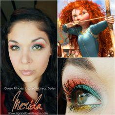 Disney Princess Inspired Makeup   Merida Inspired Makeup & Makeup Monday Color Challenge