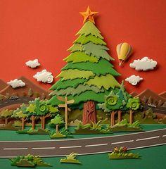 Paper Sculpture by Carlos Meira 3d Paper Art, 3d Paper Crafts, Paper Artwork, Diy Paper, Diy And Crafts, Crafts For Kids, Kirigami, Sculpture Art, Sculptures