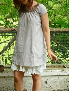 crochet yoke dress | Flickr - Photo Sharing!