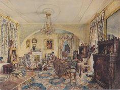 Count Casimir Batthyány in his saloon at Castle Siklós - Rudolf von Alt