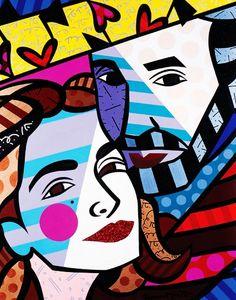 Original painting by the Brazilian artist Romero Britto