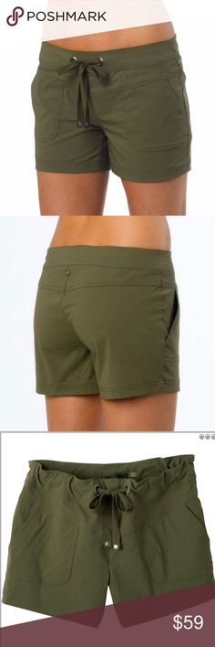 🎪NEW ARRIVAL🎪 PrAna 🎪 Bliss Short The Bliss Short is made from stretch woven fabric for the ultimate in flexibility whatever your adventure. Also features UPF40+ sun protection, a drawstring waistband and front patch pockets. Wrinkle free for easy travelling. Adventure in complete comfort. Relaxed fit - drapes loosely on the body and is roomy and comfortable. For active outdoor sports. Drawcord waistband w/rivet and grommet detailing.  10.2cm inseam (Small). On clearance at bivouac…