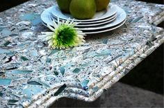 1000 images about concrete countertops on pinterest for Crushed glass countertops