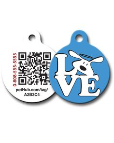 Pet ID: Love Dog QR Code Tag by PetHub #dogisgood