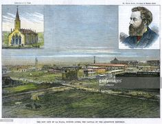 'The new city of La Plata, Buenos Ayres, the capital of the Argentine Republic', c1890. With a view of the Cathedral of La Plata, and Dr Dardo Rocha (1838-1921), Governor of Buenos Aires. The city was founded by Rocha in November 1882.