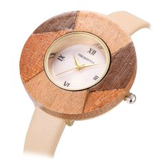 Colorful Round Bamboo Wooden Watches //Price: $11.74 & FREE Shipping //     #hashtag2