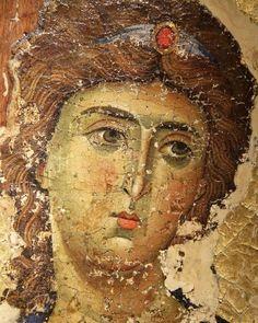 Byzantine Icons, Byzantine Art, Religious Icons, Religious Art, Angel Sculpture, Greek Culture, Book Of Kells, Archangel Michael, Art Icon