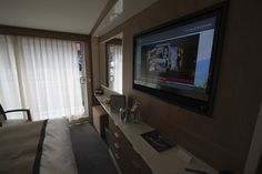 Viking Longships staterooms feature balconies and big, flat-panel televisions. © avidcruiser.com