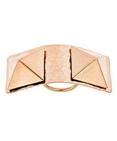 Bita Pourtavoosi Rose Gold Double Pyramid Ring #jewelry #ring #feminine Max And Chloe, Buy Rings, Feminine, Rose Gold, Stuff To Buy, Bags, Bling Bling, Sparkles, Accessories