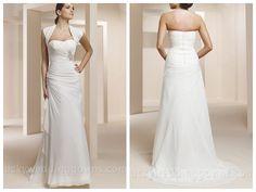 TWO-PIECE SWEETHEART STRAPLESS CREPE CHIFFON MERMAID BRIDAL DRESS