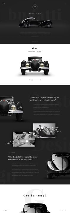 Retro Car Website Design
