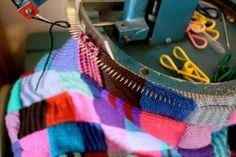 Busy working away on my knitting machine