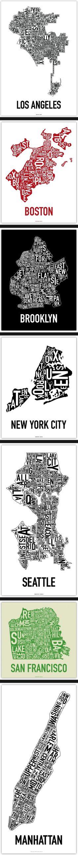 Cartographie typographique des Etats Unis Map Design, Graphic Design, Brooklyn New York, City Art, Map Art, Book Art, Communication, Messages, Lettering
