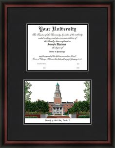 NCAA University of North Texas Diplomate Diploma Picture Frame
