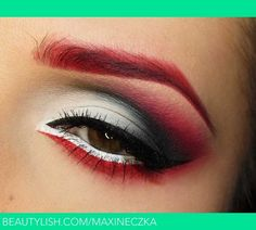 Stunning red eyeshadow
