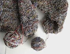 Newspaper Yarn: I would not have thought this was possible. This site has links to a tutorial on how to make it on greenupgrader. Apparently you can also make yarn, called 'plarn' out of plastic bags and there is a link to this as well.