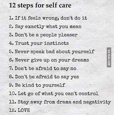 12 pasos para el mor propio   via Facebook