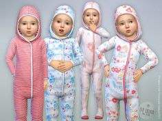Pyjama for Toddler Girls  Found in TSR Category 'Sims 4 Toddler Female'