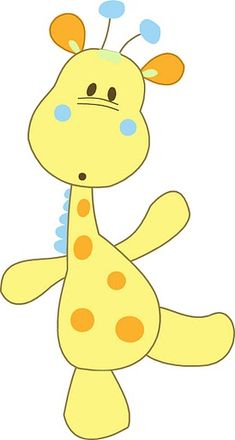 Baby Giraffe Cartoon Animal Clip Art Images Are Free To Copy For Your Own Personal Use.All Images Are On A Transparent Background Applique Templates, Applique Patterns, Applique Designs, Quilt Patterns, Embroidery Designs, Clip Art, Sewing Appliques, Quilt Baby, Felt Animals