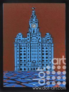Blue-Liver-Building-chris-grace-1 Limited Edition Prints, Empire State Building, Liverpool, Original Art, Blue, Inspiration, Biblical Inspiration, Motivation