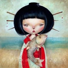 HISAKO+limited+edition+print+21/75+by+Dilkabear+on+Etsy,+€28.00